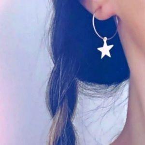Free People | Gold Star Hoop Earrings ⭐️